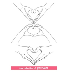 Abstract valentines hearts of human hands vector