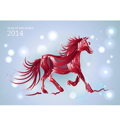 Lights and stars chinese new year of horse 2014 vector