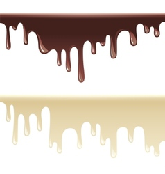 Melting chocolate vector