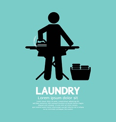 Laundry black symbol graphic vector