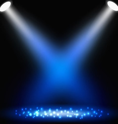 Blue background with spotlights vector