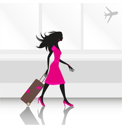 Woman traveling vector