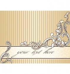 Elegant vintage sepia banner horizontal vector