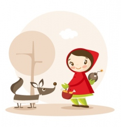 Little red riding hood vector