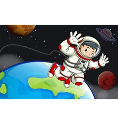 An astronaut in the outerspace vector