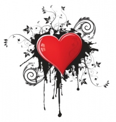 Valentine's grunge design vector
