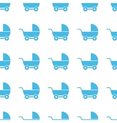 Unique baby carriage seamless pattern vector