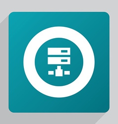 Flat net drive icon vector