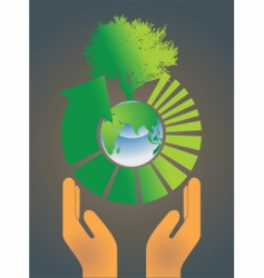 Hand holding earth globe 4 vector