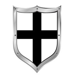 Shield medieval teutonic order vector
