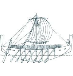 Phoenician ship vector