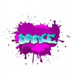 Graffiti dance background vector