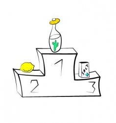 Tequila victory podium vector