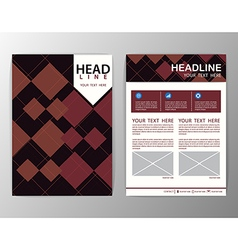 Abstract brown square geometric brochure template vector