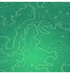 Topographic map green vector