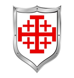 Shield of the order of the holy sepulchre vector