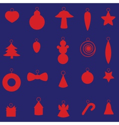 Red christmas decoration set eps10 vector