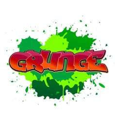 Grunge graffiti background vector