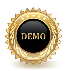 Demo badge vector