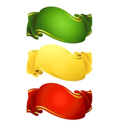 Ribbon banners vector