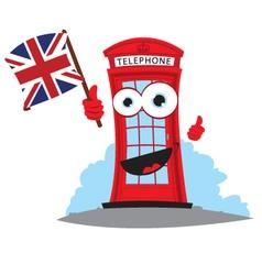 Funny english telephone vector