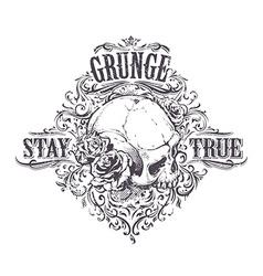 Grunge skull art vector