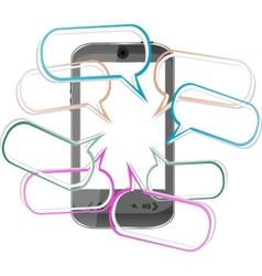 Modern mobile smart phone sending sms messages vector