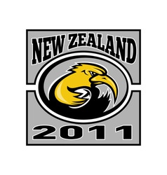 Kiwi rugby player with ball nz 2011 vector