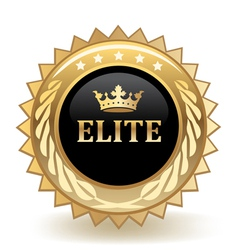 Elite badge vector