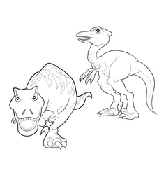 Dinosaur cartoon lineart vector