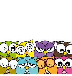 Owls icons vector