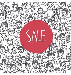 Sales crowd concept vector