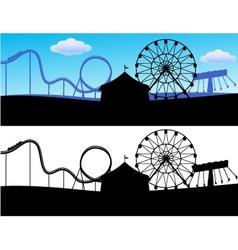 Carnival scene vector