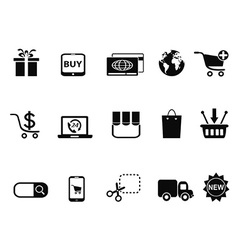 Ecommerce shopping icons set vector
