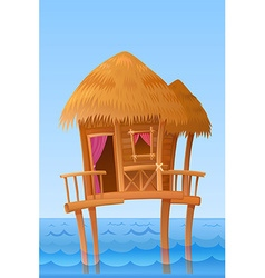 Hawaiian bungalow vector