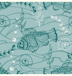 Seamless underwater pattern vector