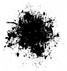 Ink splat vector