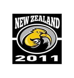 Kiwi rugby player running with ball vector