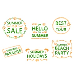Summer design element vector