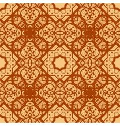 Arabian seamless background in brown color vinatge vector