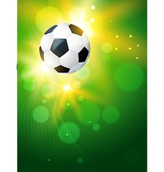 Creative background of football vector