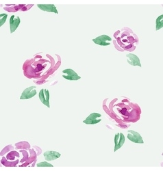 Watercolor roses flowers seamless background vector
