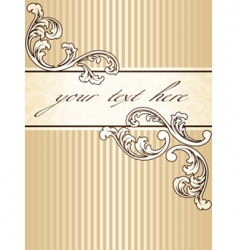 Elegant vintage sepia banner vertical vector