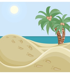 Deserted beach vector