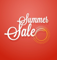 Summer sale announcement background vector