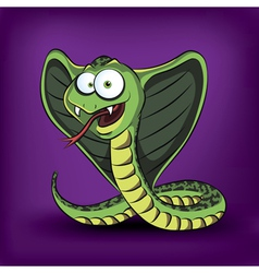 Funny cartoon cobra vector