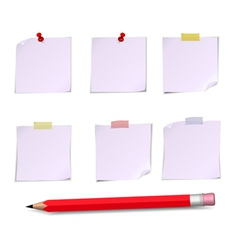 Notes white and pensil vector
