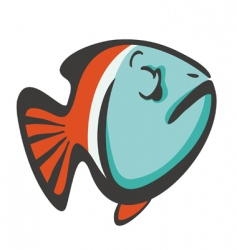 Cool fish vector