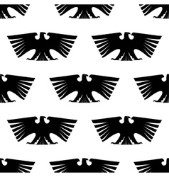 Seamless pattern of imperial eagle vector