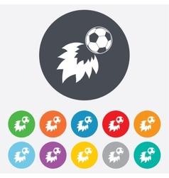 Football fireball sign icon soccer sport symbol vector